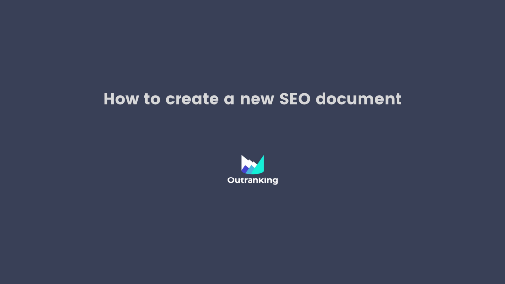 How to create a new SEO document?