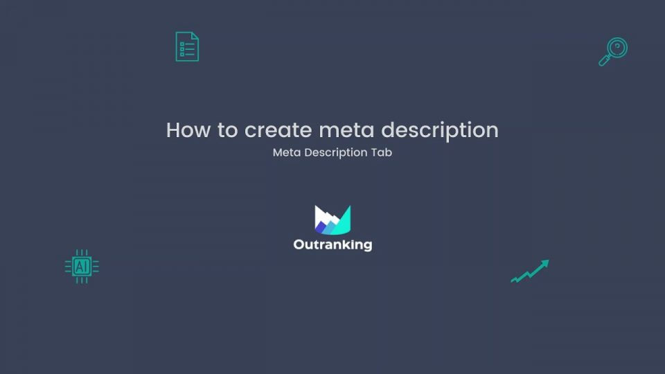 How to create meta description