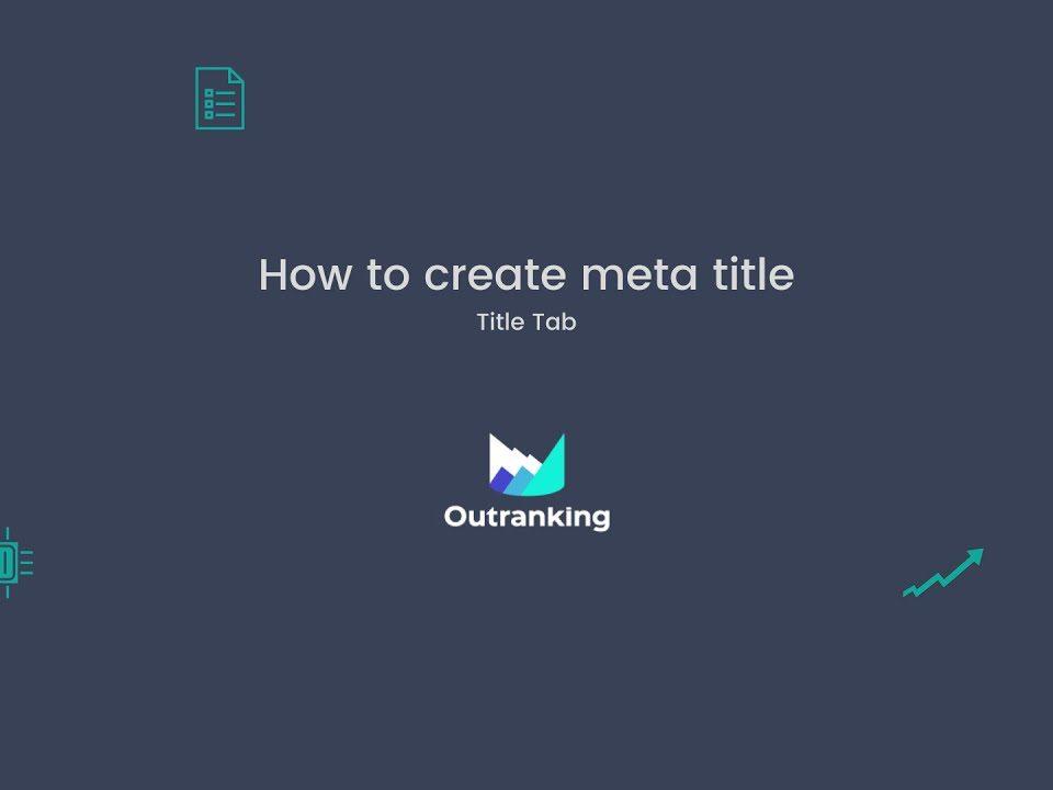How to create meta title