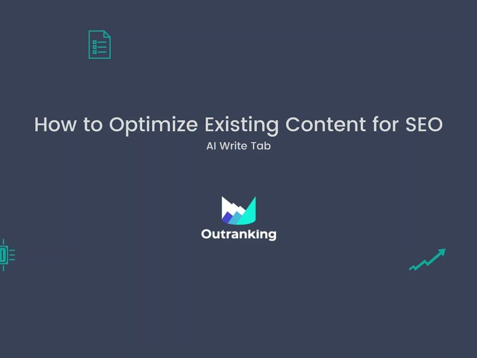 How to optimize existing content for SEO