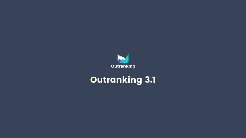 Outranking Release 3.1