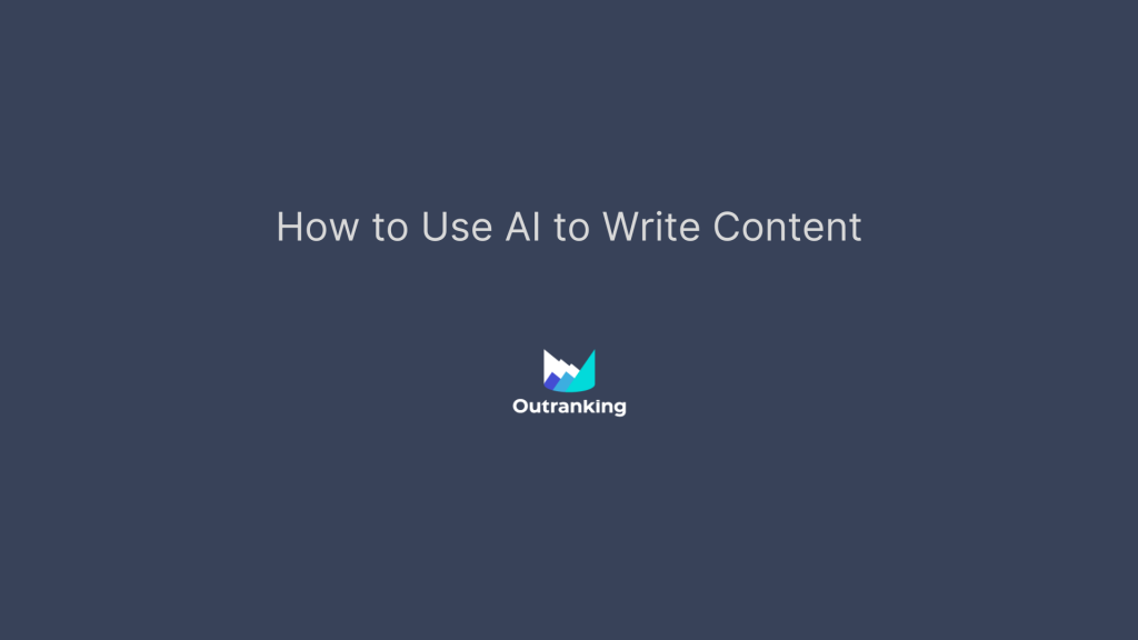 How to use AI to write content?