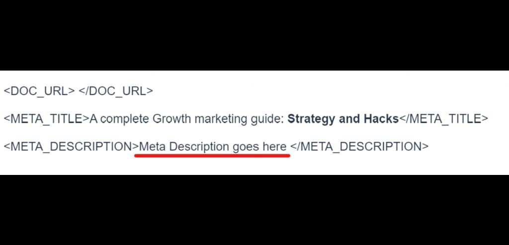 create meta description 1