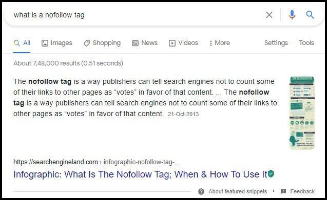nofollow tag
