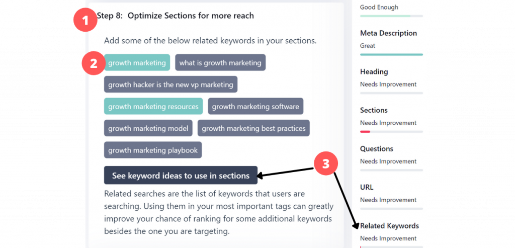optimize sections